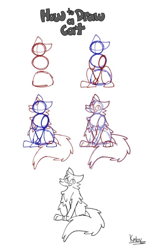 cat step by step how to draw a cat step by step by hawklynx on deviantart