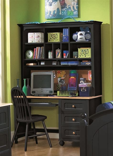 black desk with hutch black corner desk with hutch large amish corner computer