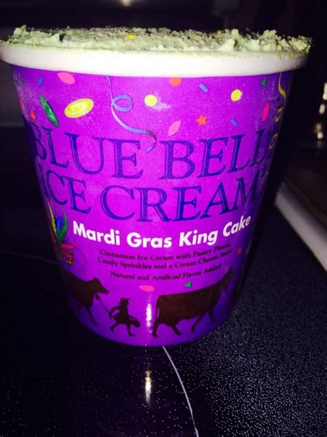 blue mardi gras mardi gras king cake flavored by blue bell in