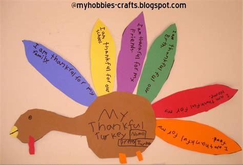 thanksgiving construction paper crafts my hobbies and crafts thankful turkey craft