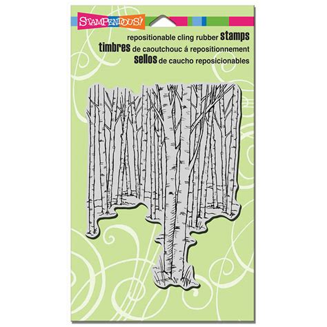 birch tree rubber st stendous cling mounted rubber sts birch forest