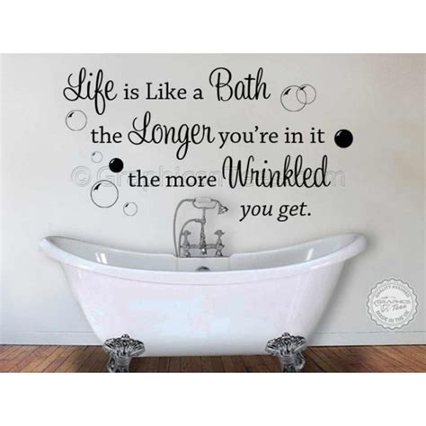 wall decor stickers quotes is like a bath bathroom wall sticker quote decor decal