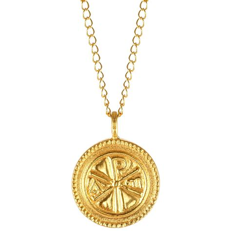pendants for jewelry christogram gold pendant necklace the met store