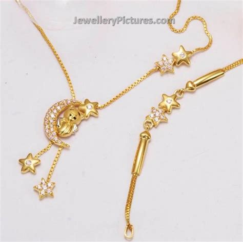 baby necklace baby gold necklace designs jewellery designs
