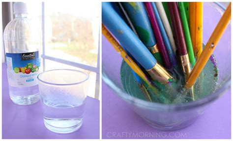 acrylic paint cleanup how to revive dried up paintbrushes crafty morning