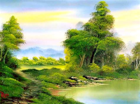 bob ross landscape paintings bob ross painting 4 by bmfmhero1991 on deviantart