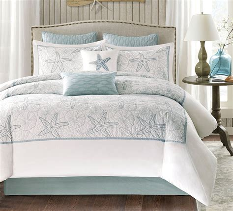 sea green bedding set bay seashell comforter set