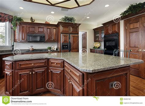 kitchen with center island kitchen with large center island stock photography image 26083782