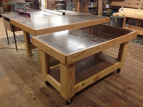 woodworking assembly table rolling torsion box assembly table mini me by