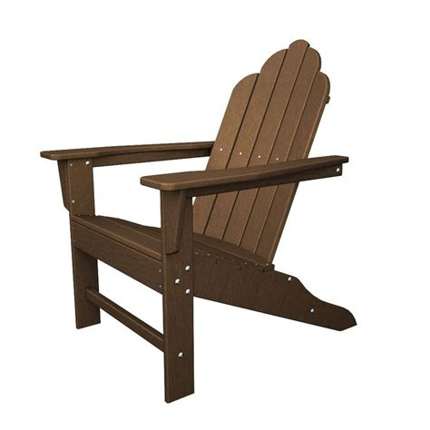 Plastic Adirondack Chairs Lowes by Shop Polywood Island Teak Recycled Plastic Casual