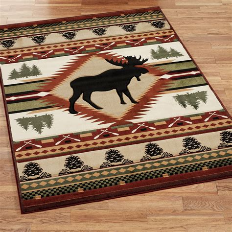 moose wilderness rustic area rugs