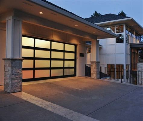 modern glass garage doors modern glass garage door for the home