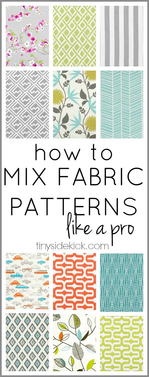 how to make fabric how to mix fabric patterns like a pro