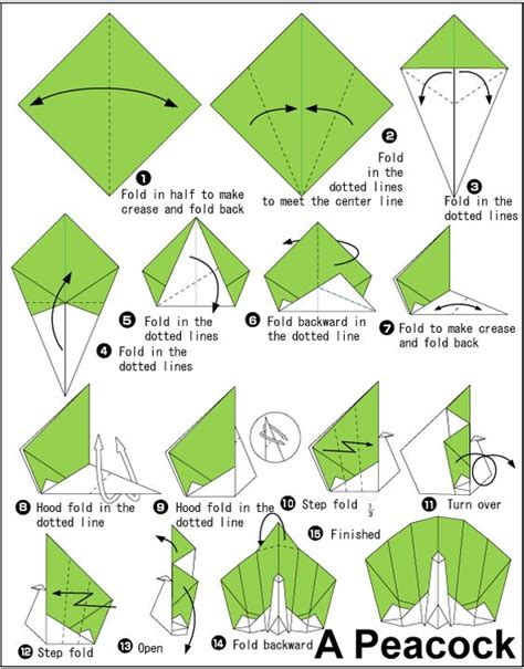 how to make origami peacock peacocks origami and colored paper on