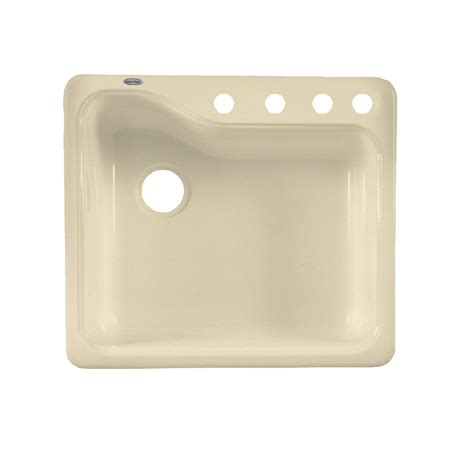 porcelain undermount kitchen sinks shop american standard silhouette single basin drop in or