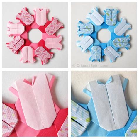 baby origami origami wreaths to celebrate a baby or