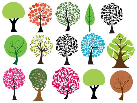 tree shapes free photoshop trees vectors brushes png pictures and