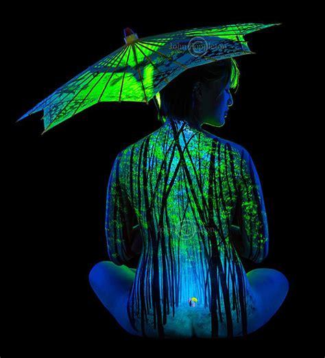 bob ross painting human i paint bodyscapes that glow black light bored panda