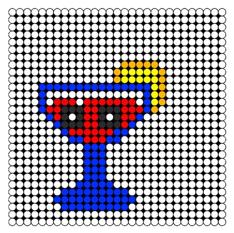 kawaii perler bead patterns kawaii cocktail perler bead pattern bead sprites food