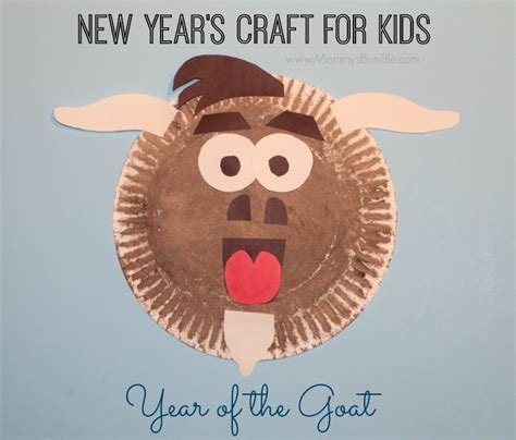 new year paper crafts paper plate goat craft for the new year s bundle