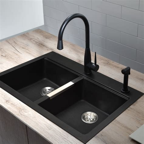 kitchen sinks black black sink and faucet