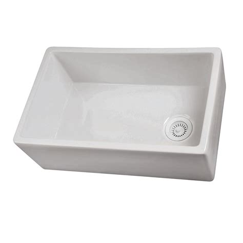 kitchen sinks at lowes shop barclay single basin apron front farmhouse fireclay