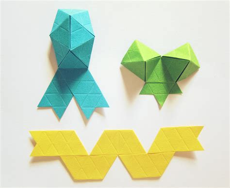 how to make a origami ribbon origami ribbon comot