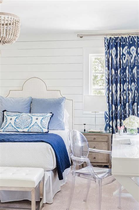 white and blue bedroom designs white and blue bedroom with white lacquer desk