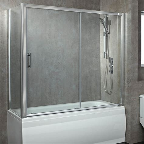 glass shower bath screen 8mm glass sliding bath enclosed shower screen