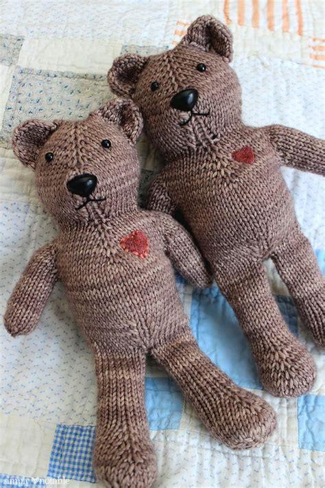 teddy knitting pattern magic loop teddy simply notable