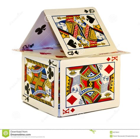 how to make a house of cards house of cards stock image image 8270841