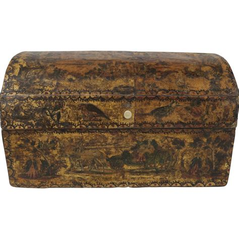 Antique Decoupage Box From Blacktulip On Ruby