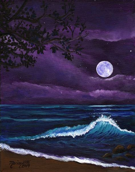acrylic painting moonlight 1000 ideas about paintings on painting prints