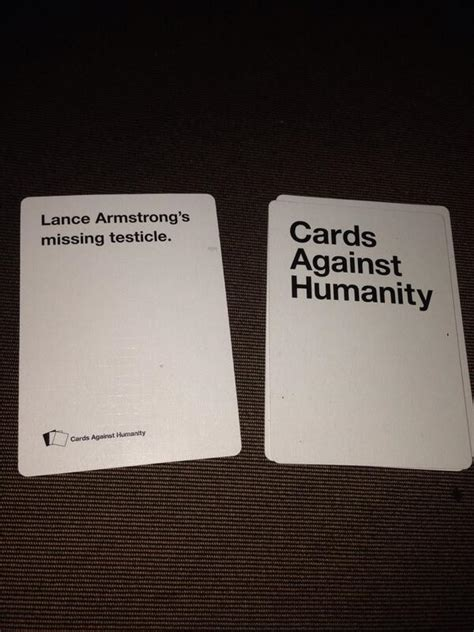 who makes cards against humanity lance armstrong on quot just another of