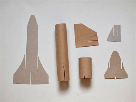 cardboard crafts for cardboard space shuttle craft template included pink