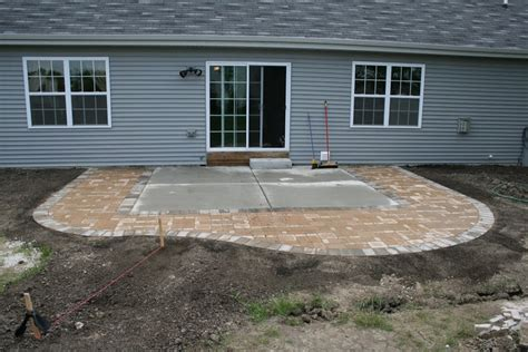 extend patio with pavers diy extending concrete patio with pavers paver patio