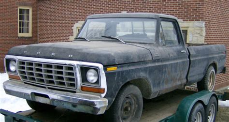 1978 ford truck f100 2wd custom chassis