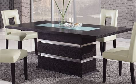 designer dining table brown contemporary pedestal dining table with glass inlay