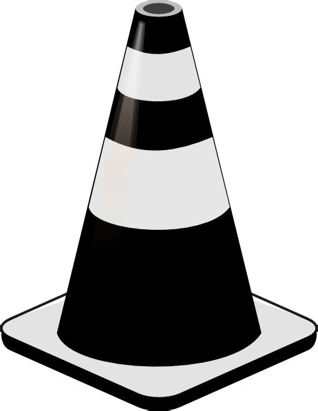 Cones Clip by Cone Black And White Clipart Clipart Suggest