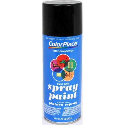 spray paint at colorplace gloss spray paint black walmart