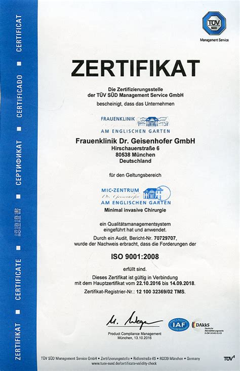 Frauenklinik Englischer Garten München by Klinik Dr Geisenhofer Mic Zentrum M 252 Nchen