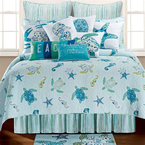 sea green bedding set imperial coast light blue sealife quilt bedding