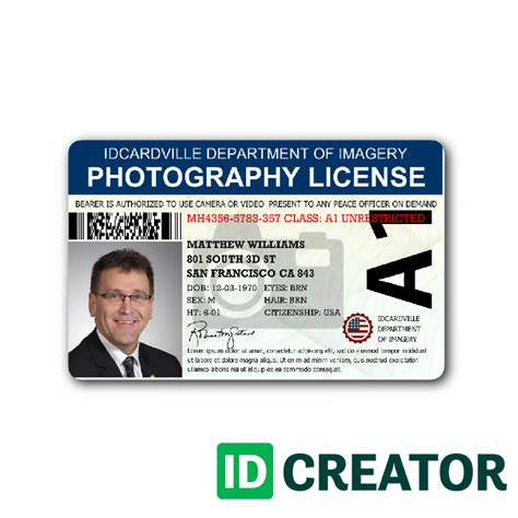 how to make plastic id cards at home professional photographer id card from idcreator