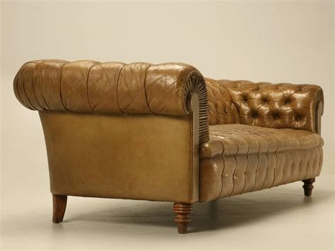 chesterfield tufted leather sofa original unrestored chesterfield tufted leather sofa at
