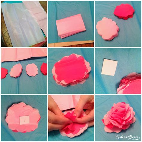 how to make from flowers silver boxes how to make tissue paper flowers