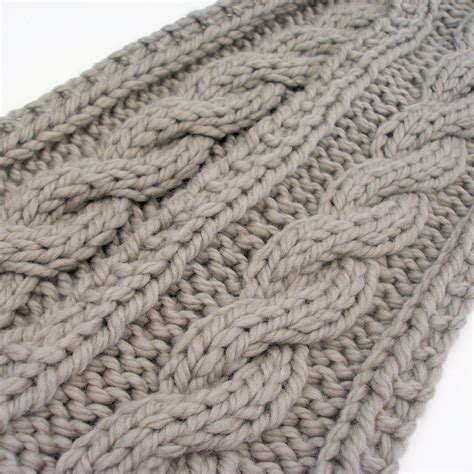 cable knit scarf pattern vintage knitting pattern pdf aran sweater hat scarf and