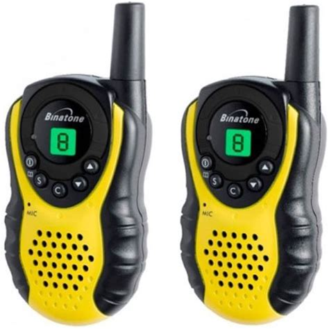 new binatone latitude 100 walkie talkie two way radios 5km range in yellow 5012786152038 ebay