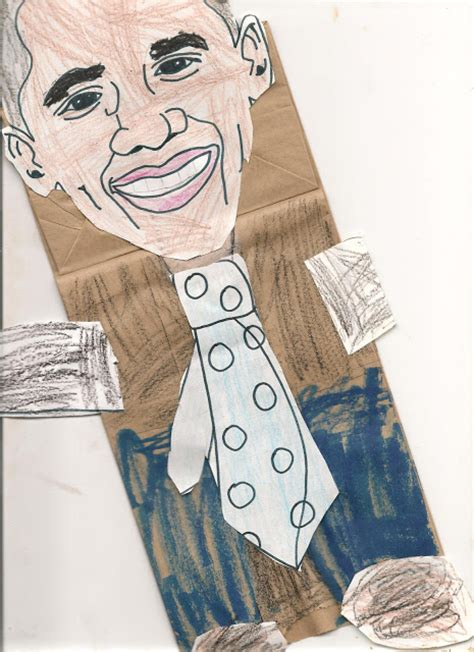 black history month arts and crafts projects barack obama paper bag puppet hey when is president s day