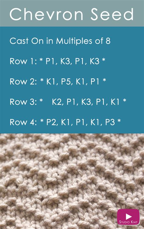 how to finish a knit stitch how to knit the chevron seed stitch pattern studio knit