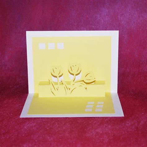 origami birthday card buy origami greeting card card orikiri tulip